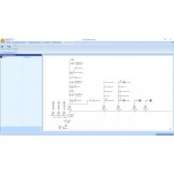 Schematicals ééndraadschema 230V installatie.
